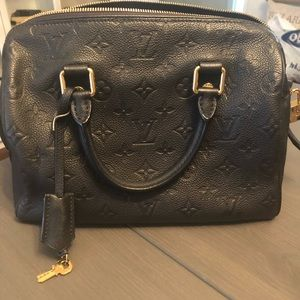 Louis Vuitton Bandouliere speedy 25 black